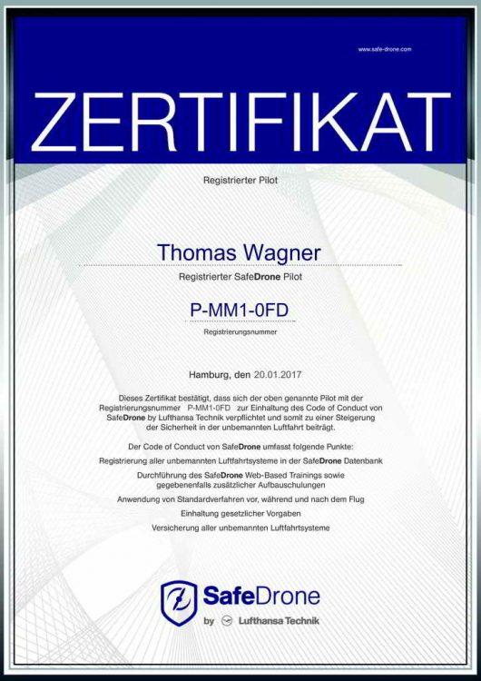 Zertifikat SafeDrone by Lufthansa Technik