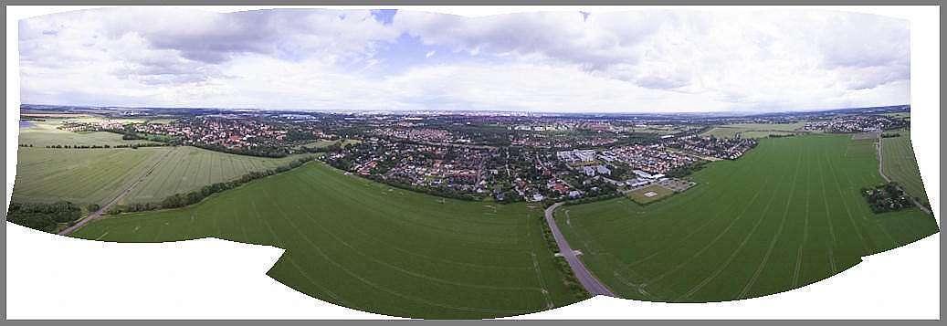 Luftbildpanorama erstellen . Das fertige Rohbild