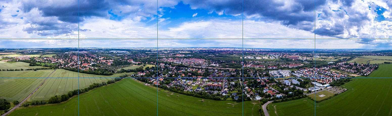 Luftbildpanorama Erstellen - das Aufnahmeraster
